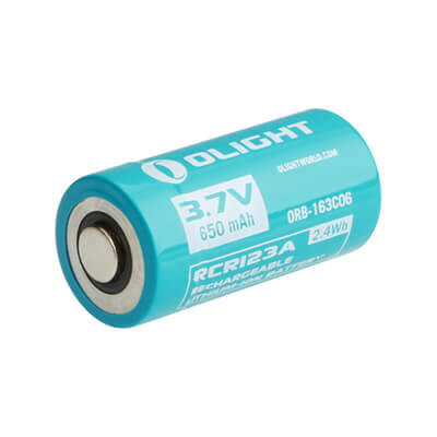 Olight customised RCR123A 650mAh